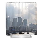 Philadelphia Schuylkill River View Shower Curtain by Bill Cannon
