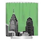 Philadelphia Skyline Liberty Place 2 - Apple Shower Curtain