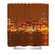Philadelphia Skyline Panorama Shower Curtain
