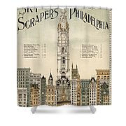 Philadelphia Skyscrapers Shower Curtain
