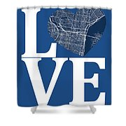 Philadelphia Street Map Love - Philadelphia Pennsylvania Texas R Shower Curtain