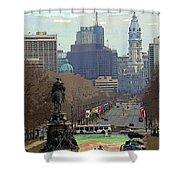 Philadelphia - The Parkway Shower Curtain
