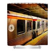 Philadelphia - Waiting Train Shower Curtain