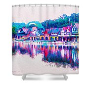 Philadelphia's Boathouse Row On The Schuylkill River Shower Curtain