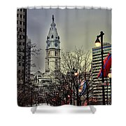 Philadelphia's Iconic City Hall Shower Curtain by Bill Cannon