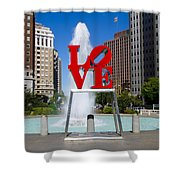 Philadelphia's Love Park Shower Curtain