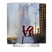 Philadelphia's Love Story Shower Curtain