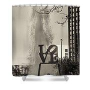 Philadelphia's Love Story In Sepia Shower Curtain