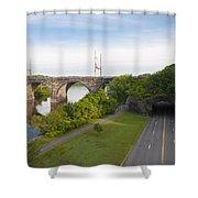 Philadelphia's Rock Tunnel - Kelly Drive Shower Curtain
