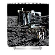 Philae Lander On Comet 67pc-g Shower Curtain