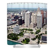 Philip A Hart Plaza Detroit Shower Curtain