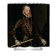 Philip II Of Spain C.1570 Shower Curtain