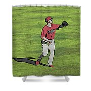Phillies Catch Shower Curtain