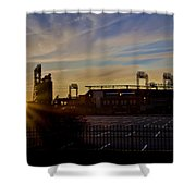 Phillies Citizens Bank Park At Dawn Shower Curtain