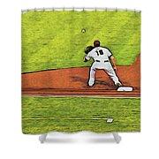 Phillies First Baseman Shower Curtain