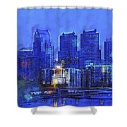 Philly Blue Shower Curtain