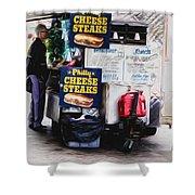 Philly Cheese Steak Cart Shower Curtain