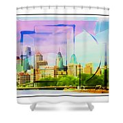 Philly Colours Shower Curtain