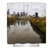 Philly Fall River View Shower Curtain