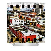 Philly Filmstrip Shower Curtain by Alice Gipson