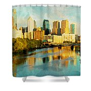 Philly Gleamin Shower Curtain