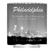 Philly Glow Shower Curtain
