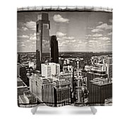 Philly In The Clouds Shower Curtain
