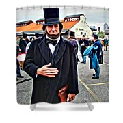 Philly Lincoln Shower Curtain
