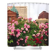 Philly Roses Shower Curtain