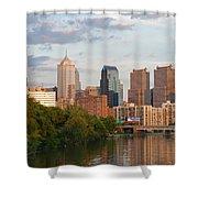 Philly Summer Skyline Shower Curtain