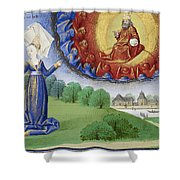 Philosophy Instructs Boethius On God Shower Curtain by Getty Research Institute