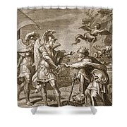 Phineus Is Delivered From The Harpies Shower Curtain