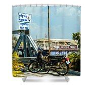 Phnom Penh Harbour Shower Curtain
