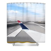 Phoenix Az Airport Wing Tip View Shower Curtain