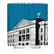Phoenix Skyline Arizona Capital Building - Steel Blue Shower Curtain