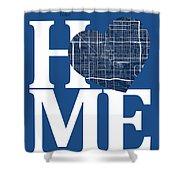 Phoenix Street Map Home Heart - Phoenix Arizona Road Map In A He Shower Curtain