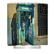 Phone Booth In Blues - Oporto Shower Curtain