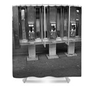 Phone Booth In New York City Shower Curtain