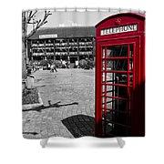 Phone Box London Shower Curtain