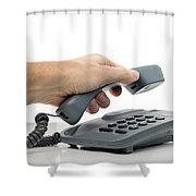 Phone Call Shower Curtain
