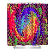 Phone Case Art Colorful Intricate Abstract Geometric Designs By Carole Spandau 129 Cbs Art Exclusive Shower Curtain by Carole Spandau