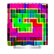 Phone Case Art Intricate Colorful Dynamic Abstract City Geometric Designs By Carole Spandau 131 Cbs  Shower Curtain