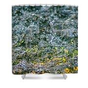 Phone Case - Liquid Flame - Yellow 2 Shower Curtain