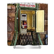 Phone Home - Telephone Booth Shower Curtain