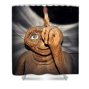 Phoning Home Shower Curtain