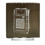 Phonograph Cabinet Patent Shower Curtain