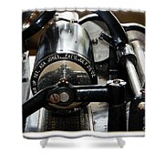 Phonograph Recording Cylinder Shower Curtain
