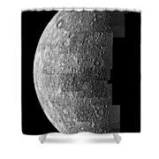 Photo Mosaic Of Images Of Mercury  Shower Curtain