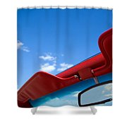 Photo Of Convertible Car And Blue Sky Shower Curtain