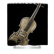 Photograph Of A Complete Viola Violin In Sepia 3368.01 Shower Curtain
